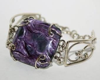 Charoite, Charoite Bracelet, Charoite Jewelry, Purple Charoite, Metaphysical Jewelry, Healing Stone Jewelry, FREE SHIPPING