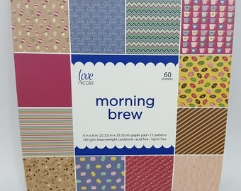Paper Pad 8x8 Morning Brew by Love Nicole 60 sheet