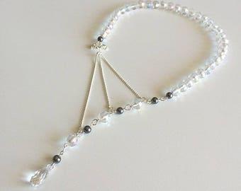Question mark transparent necklace beads