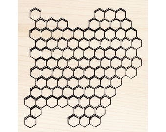 Honeycomb 1498M Beeswax Rubber Stamps Unmounted, Cling, Mounted Stamp Animal, Wildlife, Nature Stamping