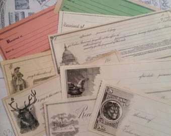 ON SALE 25% OFF Gorgeous Antique and Vintage Unused Checks | Promissory Notes | Checkplates | Ephemera Collection