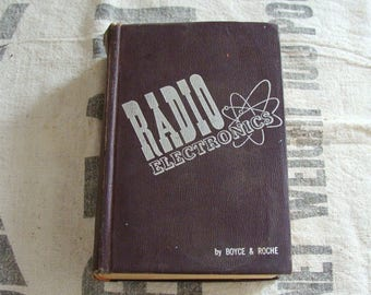 1952 Radio Electronics Book, 890 Pages, Cool Looking Electron Graphic on Cover