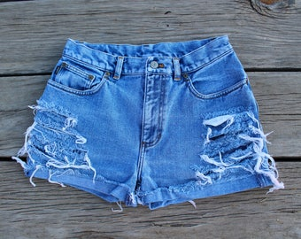Ralph Lauren Co. Distressed Denim Shorts