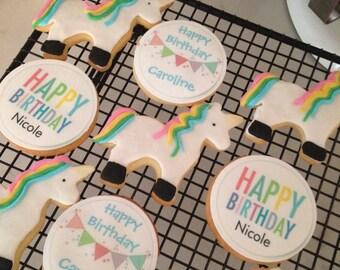 Unicorn Cookies-Party Favor Cookies-Personalized Cookies-Princess Cookies-unicorn Party