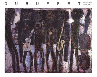 Jean Dubuffet-Jazz Band-1990 Poster