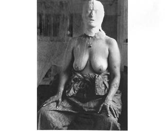 Kiki Smith-Face In Plaster-1996 C Print Photograph-SIGNED