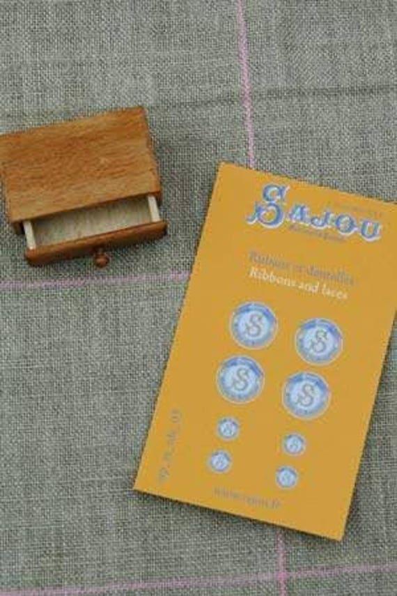"Sajou miniature goods, 1 drawer ""Rubans et Dentelles"" for the doll parlor, Dollhouse Miniatures, # 39401"
