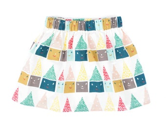 Girls cotton retro skirt, summer girls skirt, girls summer skirt, girls cotton skirt