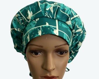 Bouffant Scrub Hat with ties - Surgical Scrub Cap -Character scrub hat - Scooby Doo & Friends scrub hat - Custom Scrub Hat - Lined Scrub Hat