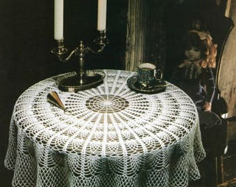 Vintage Pineapple Tablecloth Crochet Pattern From Magic Crochet, No 1