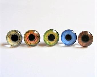 Glass Eye Earrings , Eyeball Earrings, Glass Eye Jewelry, Miniature Eye Jewelry, Mini Eye Jewelry, Imitation Eye Earrings, Fake Eye Earrings