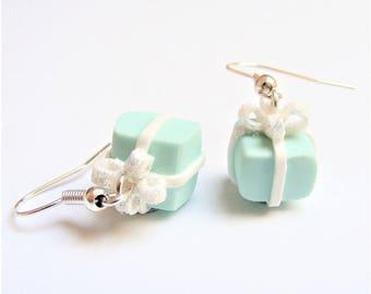 Food Jewelry, Gift Box Earrings, Birthday Gift Earrings, Festive Earrings, Gift Jewelry, Christmas Earrings, Christmas Jewelry, xmas