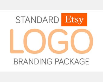 Standard ETSY Logo Branding Package | Custom Design - Matching Watermark, Brand Board, & Full Shop Set Included | Business Identity