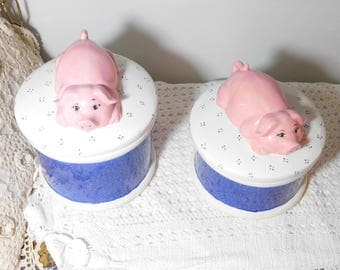 Canisters, Pig Canisters, Vintage Pig Canisters, Pig, Pigs, Vintage  Canisters,