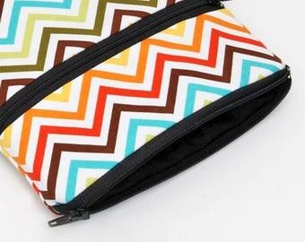 iPad Pro 10.5 Sleeve, Nook Glowlight Plus Case, Kobo Aura H2O Cover, Galaxy Tablet Zipper Case, iPad Mini Cover  Padded - rainbow zigzag