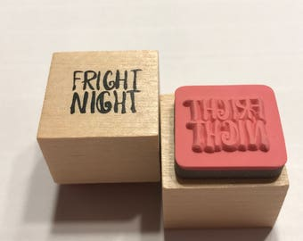 small Fright Night rubber stamp, 20 mm (BB1/4)