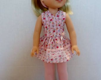 Pink summer pants or leggings  and top American made to fit 14 1/2 inch Wellie Wisher dolls