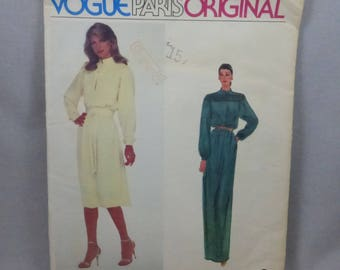 Vintage Vogue Paris Original 2352 Nina Ricci Dress Misses Size 10