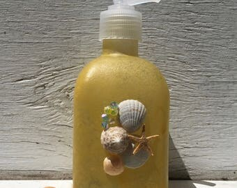 Seashell Soap and Lotion Dispenser, Seashell Soap Pump, Beach Bathroom, Coastal Bathroom, Bridal Shower Gift, Unique Gift, Hostess Gift