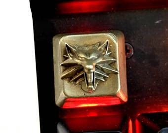 Witcher Wolf - SOLID BRASS keycap MX Cherry