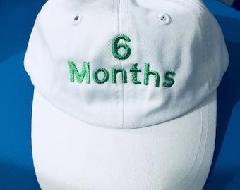 Personalized Baseball Caps, 6 month Baseball Caps photo props, Toddler Baseball Caps, Baseball caps - Baby baseball caps all sizes