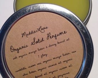 Vegan/Organic SOLID PERFUME-Choose from over 90 Unique Scents-1oz.-No Alcohol,dpg,Phthalates,Nitro Musk & Cruelty-Free