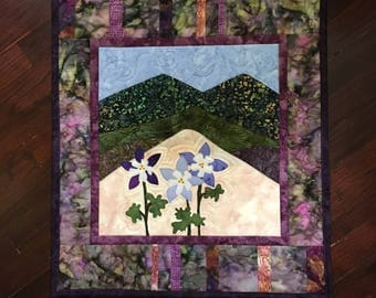 Mountain Art Quilted Wall Hanging