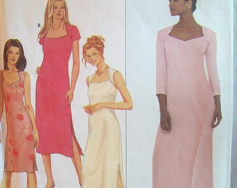 Front Yoke Dress in Three Lengths 1990s Simplicity Pattern 9048 Sizes 6-12