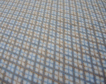 Vintage 1960s polyester double knit fabric small print diamond 63 inches wide
