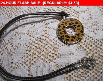 leopard print pendant necklace