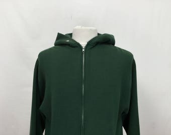 Forest Green Zip Up Hoodie
