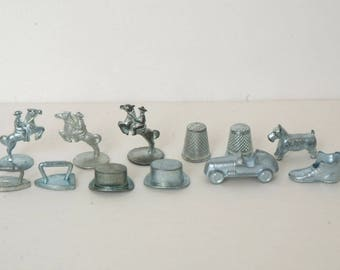 Lot of 12 Monopoly pieces Tokens