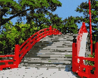 Needlepoint Kit or Canvas: Foot Bridge
