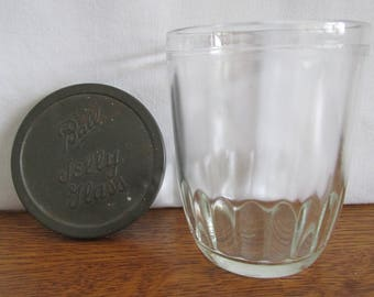 Antique Jelly Jar with Metal Lid