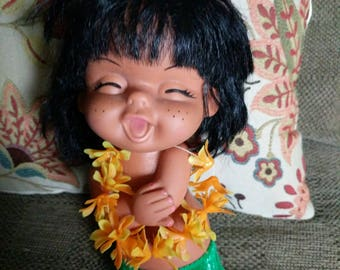 Vintage Rubber Sassy Hawaii Doll