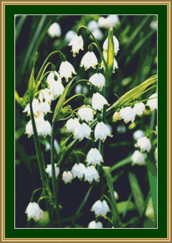 Spring Snowflakes Cross Stitch pattern /Digital PDF Files /Instant downloadable