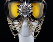 Custom Order - Romero Burning Man sky goggles