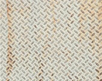 Old Diamond Metal - Exclusive - Vinyl Photography Backdrop Floordrop Prop
