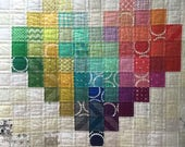 Patchwork Custom Made Quilt with Heart Motif