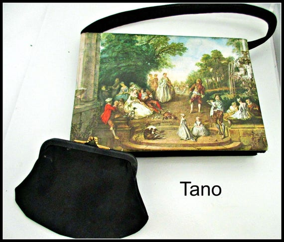Tano of Madrid Envelope purse French Painting bag pocket book hand bag