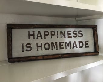 Hand Painted Happiness Farmhouse Style Sign