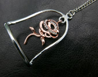 Enchanted Rose Beauty and the Beast Necklace jewelry
