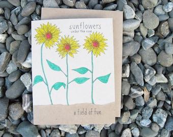 Sunflowers Under The Sun