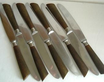 Horn Handle Scandinavian Dinner Knives - Paris Rustfri