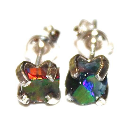 Small Black Opal Earring