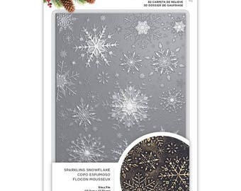 SPARKLING SNOWFLAKES  3D -  Crafter's Companion  Embossing Folder - 5x7 -  3D Deep Impressions !!