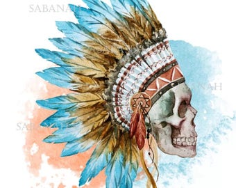 Indian headdress! printed on fusible transfer paper