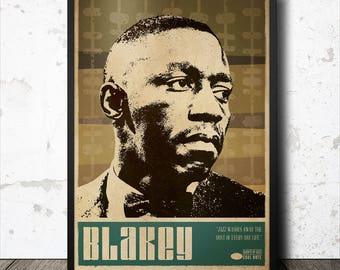 Art Blakey Jazz Art Poster