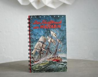 "Spiral Bound Notebook Tartuensis College ""Shipbreak"" Recycled Book"