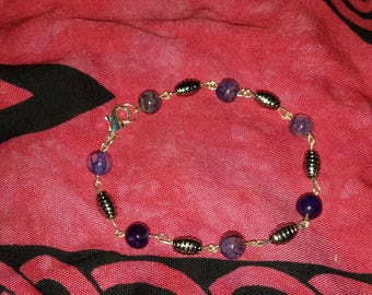 Purple and Silver Bracelet